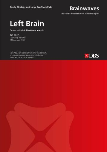 Left Brain - the DBS Vickers Securities Equities Research