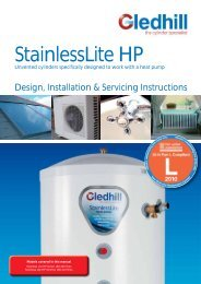 StainlessLite HP - Gledhill Spare Parts