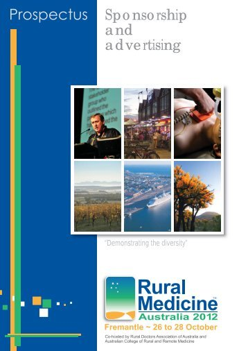 Sponsorship and advertising - Rural Medicine Australia 2013