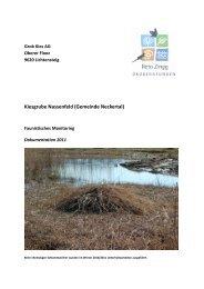 Faunistisches Monitoring der - Natur & Wirtschaft