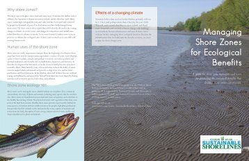 Managing Shore Zones for Ecological Benefits - Cary Institute of ...