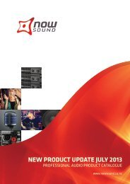 Download New Product Catalogue Here - Now Sound