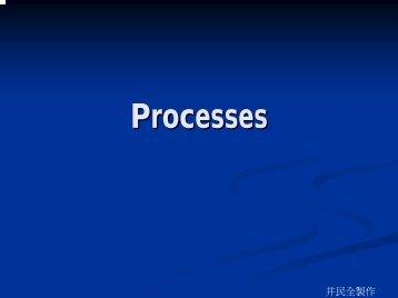 Process 基本觀念