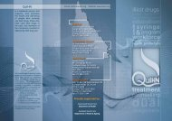 Queensland Injectors Health Network (QuIHN) service brochure