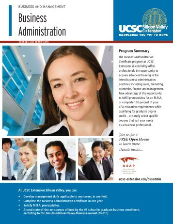 Business Administration - UCSC Extension Silicon Valley