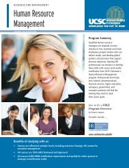 Human Resource Management - UCSC Extension Silicon Valley
