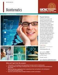 Bioinformatics brochure - UCSC Extension Silicon Valley