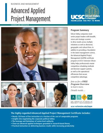 Advanced Applied Project Management - UCSC Extension Silicon ...