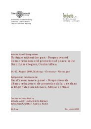 2008 Political and societal situation in the Great Lakes ... - Imbuto