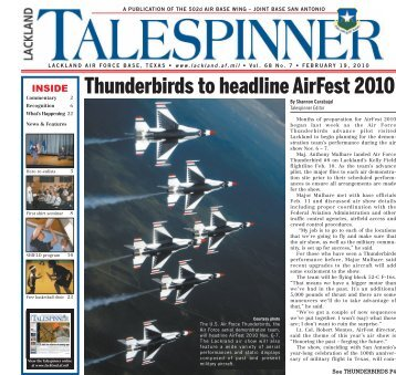 Thunderbirds to headline AirFest 2010 - San Antonio News