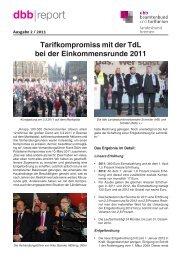 Ausgabe 2/2011 - [DBB] - Landesbund Bremen