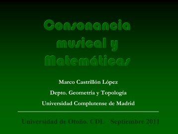 Consonancia musical y matemáticas