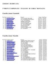 3° Prova Campionato Italiano di Corsa in Montagna - Atletica Val ...
