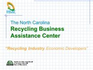 Recycling Business Assistance Center - NC Project Green