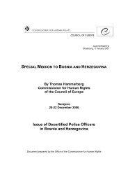 BiH IPTF - Council of Europe Office in Bosnia and Herzegovina