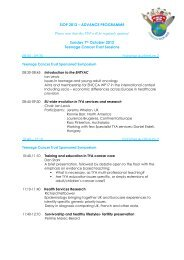 SIOP 2012 – ADVANCE PROGRAMME Sunday 7th October 2012 ...