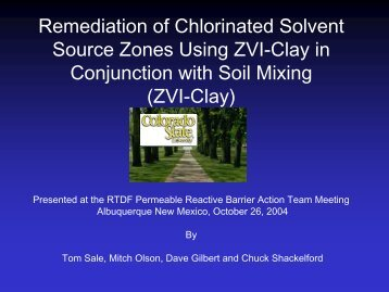Remediation of Chlorinated Solvent Source Zones Using ZVI-Clay in ...
