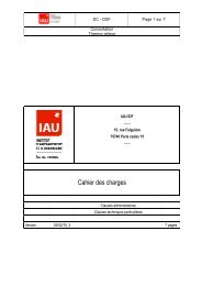 Cahier des charges - IAU îdF