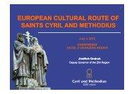 EUROPEAN CULTURAL ROUTE OF UROPEAN CULTURAL ...