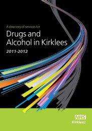 Directory of Services for Drugs and Alcohol in - NHS Kirklees