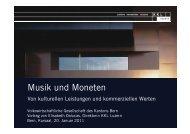 Musik und Moneten - VWG - Volkswirtschaftliche Gesellschaft des ...
