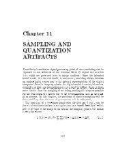 Chapter 11 SAMPLING AND QUANTIZATION ARTIFACTS