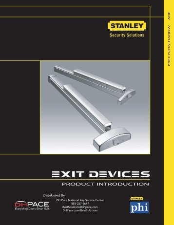 Exit Devices - DH Pace