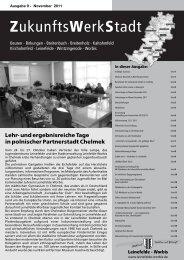 ZukunftswerkStadt Ausgabe November 2011 - Stadt Leinefelde Worbis