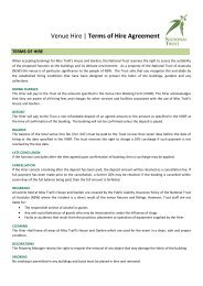 Venue Hire   Terms of Hire Agreement - NSW