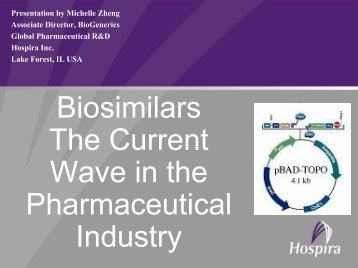Biosimilars The Current Wave in the Pharmaceutical Industry - CVG