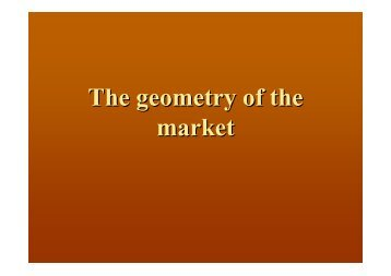 The geometry of the market