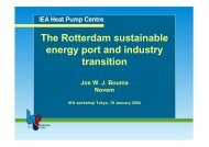 The Rotterdam sustainable energy port and industry transition