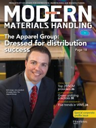 Modern Materials Handling - July 2010