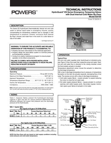 TECHNICAL INSTRUCTIONS - Watts Water Technologies, Inc.