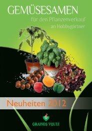 Neuheiten 2012 - Graines Voltz
