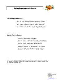 Pressemappe downloaden - Heide-Park