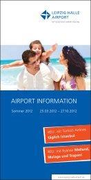 Airport Information Sommer 2012 - Flughafen Leipzig/Halle