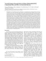 Ancestral Sequence Reconstruction in Primate ... - David Pollock