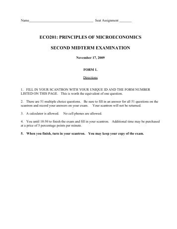 principles of economics final exam The purpose of this course is to provide you with a basic understanding of the principles of microeconomics economics deals with the final exam quiz.