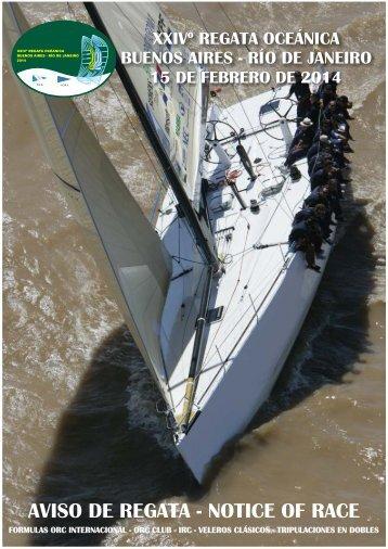 regata oceánica buenos aires - río de janeiro 2014 - Yacht Club ...