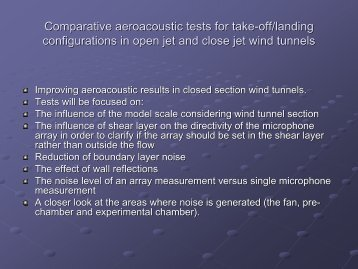 Comparative aeroacoustic tests for take-off/landing ... - ESWIRP