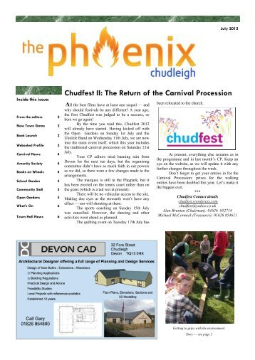 Chudfest II: The Return of the Carnival Procession - Chudleigh ...