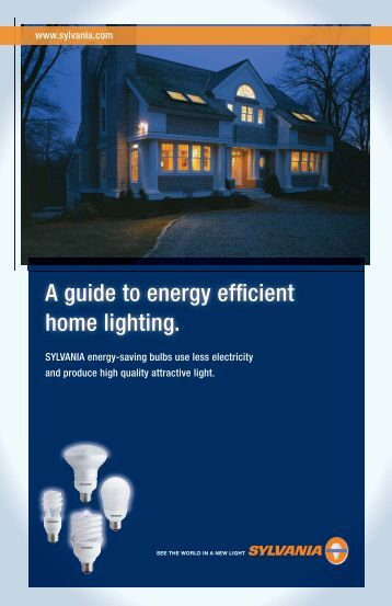 A guide to energy efficient home lighting.
