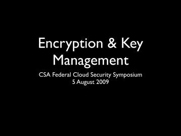 Encryption and Key Management - Cloud Security Alliance