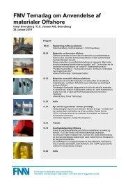 FMV Temadag om Anvendelse af materialer Offshore