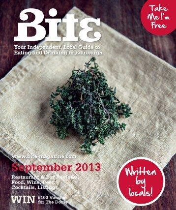 Download Bite Magazine August 2013