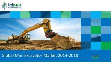 Global Mini Excavator Market 2014-2018