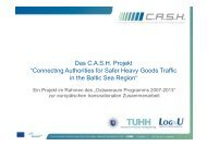 """Das C.A.S.H. Projekt """"Connecting Authorities for Safer Heavy Goods ..."""