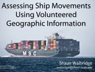 Assessing Ship Movements Using Volunteered ... - Dawn Wright