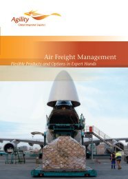 Air Freight Management - Agility